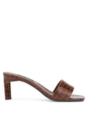 Мюли кожаные на каблуке Senso