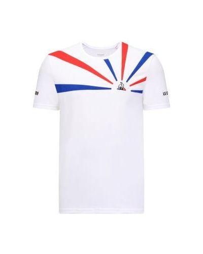 Biały t-shirt bawełniany Le Coq Sportif