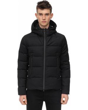 Czarna kurtka z kapturem wełniana Tatras