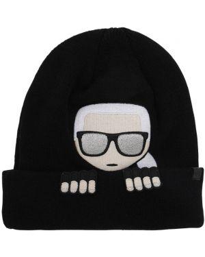 Шерстяная шапка - черная Karl Lagerfeld