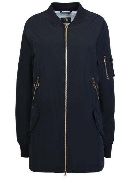 Синяя куртка на молнии с воротником с карманами Bogner