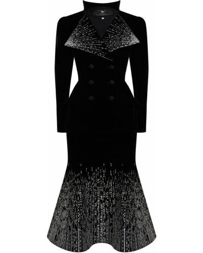 Приталенный черный костюм оверсайз Maison Bohemique