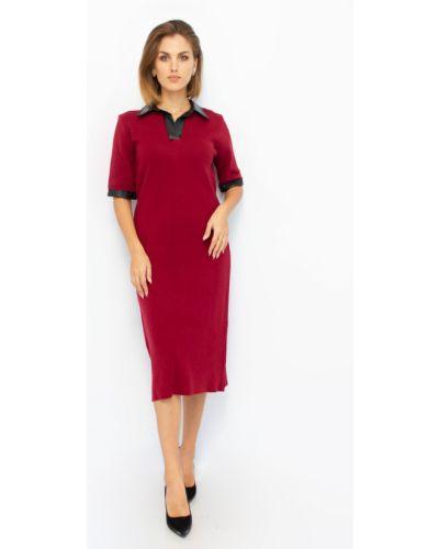 Шерстяное платье - бордовое Dilvin