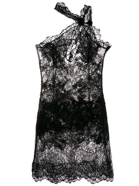 Ажурное черное платье миди без рукавов Ermanno Scervino