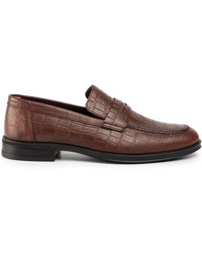 Кожаные туфли - коричневые Quazi