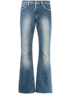 Классические хлопковые синие джинсы на молнии Versace Pre-owned