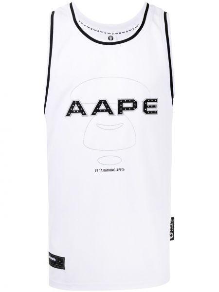 Czarna kamizelka bez rękawów z printem Aape By A Bathing Ape