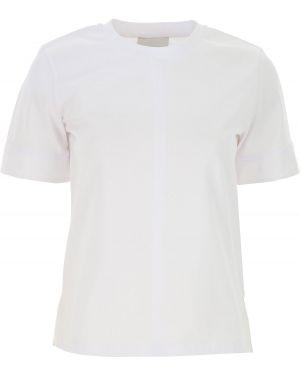 Biały top krótki rękaw bawełniany 1. Phillip Lim