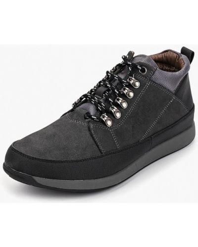 Ботинки осенние высокие из нубука Tesoro
