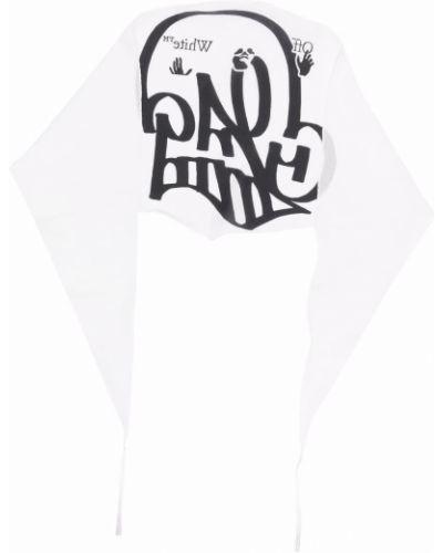 Biały szalik bawełniany Off-white