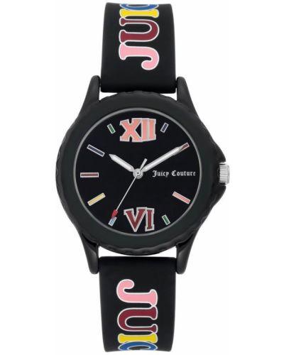 Czarny zegarek mechaniczny silikon na co dzień Juicy Couture