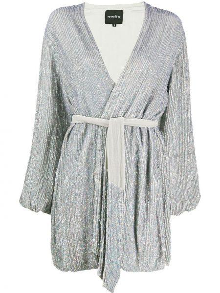 Платье серое с пайетками Retrofete
