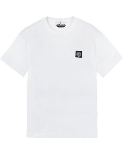 Biały t-shirt krótki rękaw Stone Island