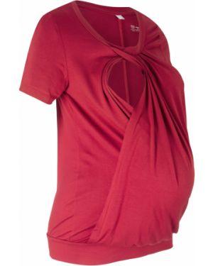 Блузка для беременных красная Bonprix