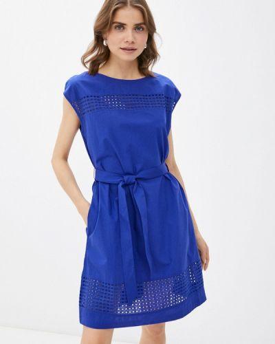 Прямое синее платье А-силуэта United Colors Of Benetton