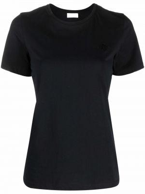 Хлопковая футболка - черная By Malene Birger