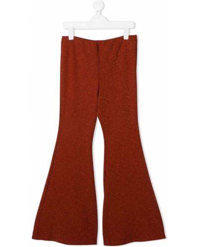 Расклешенные с завышенной талией брюки металлические Mariuccia Milano Kids