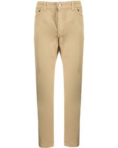 Beżowe spodnie z paskiem Gieves & Hawkes