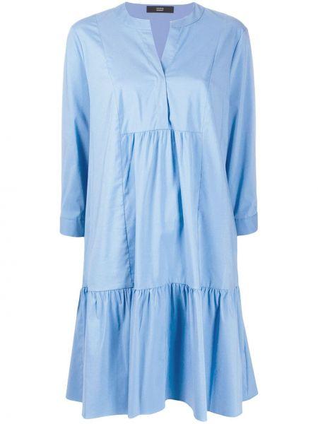 Хлопковое платье - синее Steffen Schraut