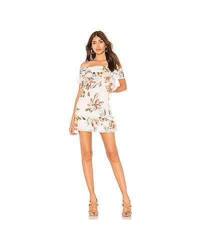 Платье мини с цветочным принтом со складками Tularosa