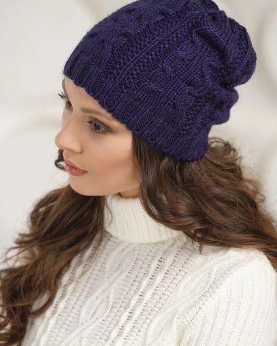 Фиолетовая шапка шерстяная Vay