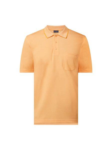 Pomarańczowy t-shirt bawełniany Christian Berg Men
