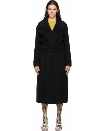 Черное пальто длинное Sportmax