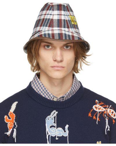 Czarna czapka bawełniana z haftem Gucci