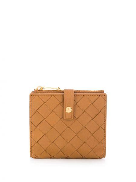 Кожаный кошелек в полоску для монет Bottega Veneta