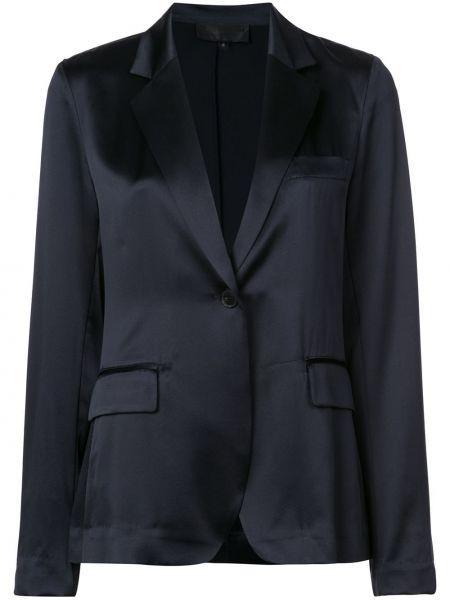 Шелковый синий пиджак с карманами Nili Lotan