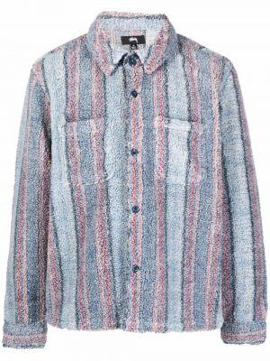 Флисовая рубашка - синяя Stussy