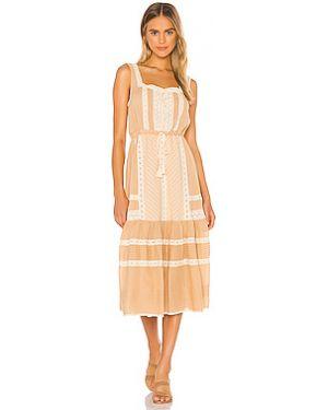 Платье миди из вискозы с кружевными рукавами Spell & The Gypsy Collective