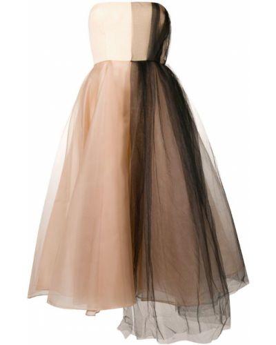 Платье из фатина - бежевое Alex Perry
