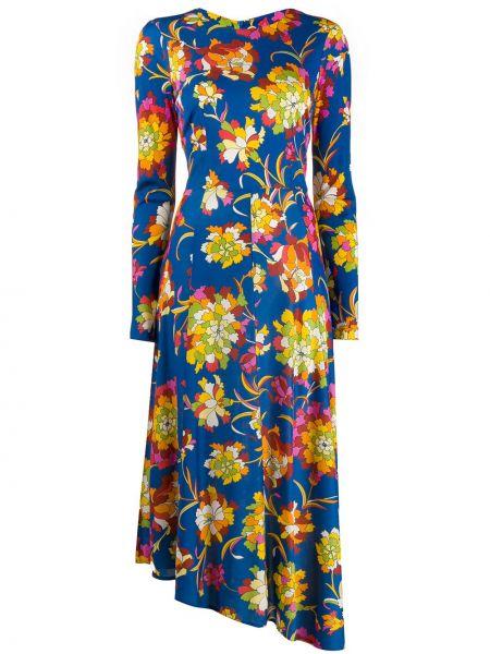 Асимметричное приталенное платье на молнии с вырезом La Doublej