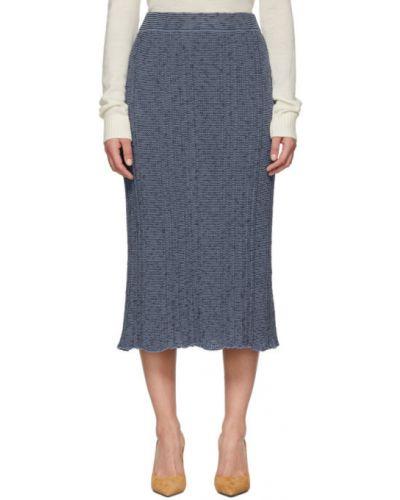 Otwarty bawełna niebieski bawełna spódnica maxi Jil Sander