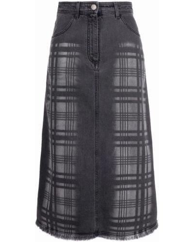 Джинсовая юбка - черная Alberta Ferretti