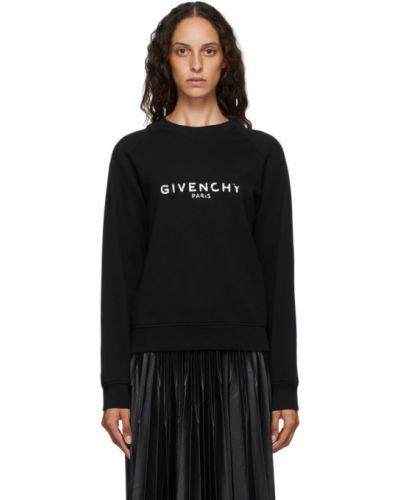 Z rękawami czarny frotte bluza z kołnierzem Givenchy