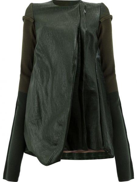 Длинная куртка - зеленая Rick Owens