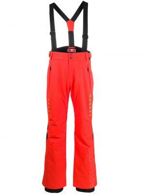 Прямые красные брюки с карманами Rossignol
