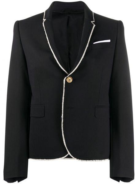 Шерстяной черный пиджак с карманами Neil Barrett