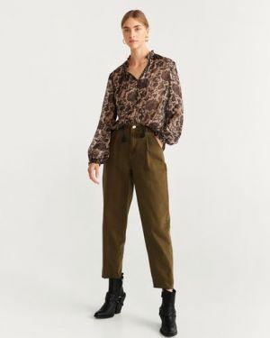 Блузка с длинным рукавом с V-образным вырезом с цветочным принтом Mango