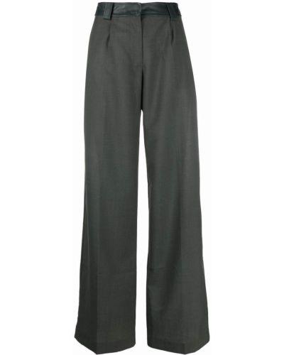 Кожаные брюки - зеленые Christopher Esber