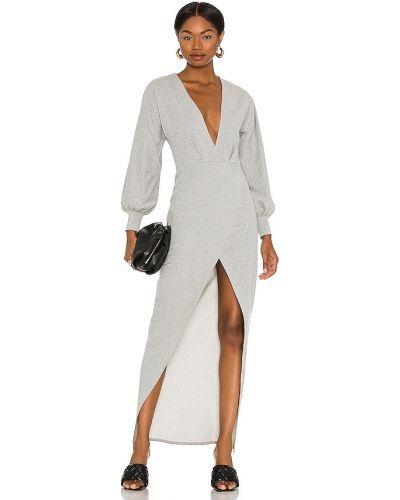 Ватное трикотажное платье миди с манжетами Michael Costello