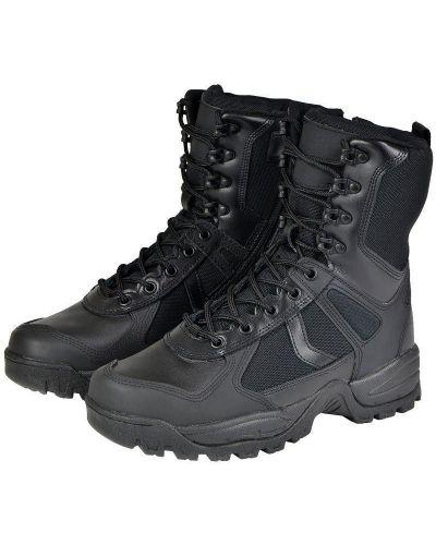 Кожаные ботинки - черные Mil-tec