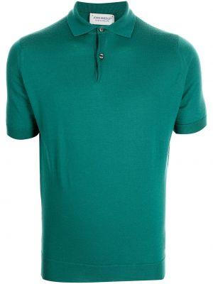 Зеленая рубашка классическая John Smedley