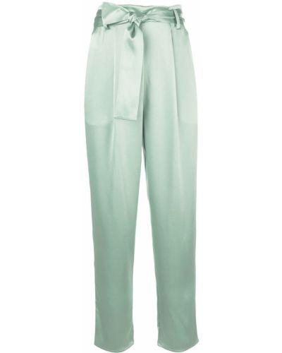 Прямые брюки с воротником мятные Sally Lapointe