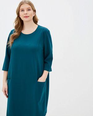 Повседневное платье осеннее зеленый Zarus`