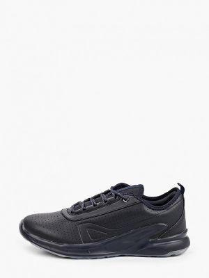 Синие кожаные кроссовки Escan