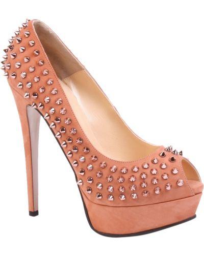 Туфли на танкетке кожаные на каблуке Nando Muzi