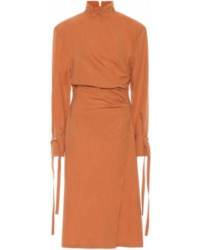 Платье миди из поплина Acne Studios